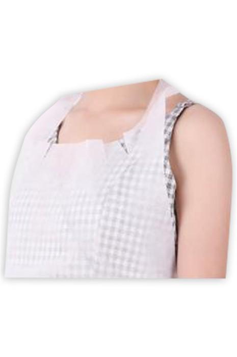 SKAP056 一次性無紡布圍裙 餐飲店 廚房 防水 防油 設計腰帶綁繩圍裙 一次性圍裙中心 50只