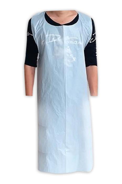 SKAP058 製造一次性圍裙 PE塑料 防水 防油 廚房 餐飲 清潔  設計腰部繫帶圍裙 圍裙中心 100只