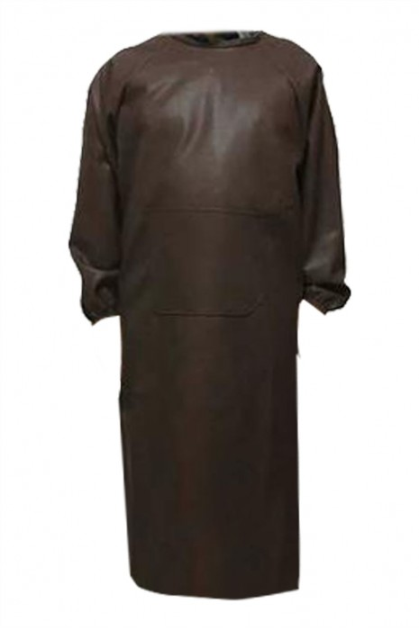 SKAP063 製造長袖皮革圍裙 訂製防水 防油 防污圍裙 洗車房  圍裙供應商