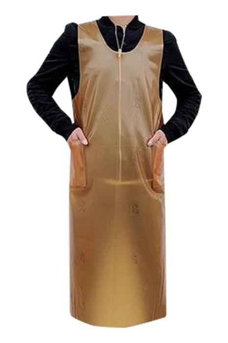 SKAP064 大量訂製牛筋馬甲軟皮圍裙 防水 防油 防污 皮革圍裙  寵物店 洗車房  牛筋馬甲軟皮圍裙製衣廠