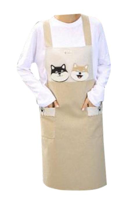 SKAP065 網上下單訂購文藝圍裙 廚房圍裙 拼布圍裙 花店圍裙 設計修身背帶圍裙  文藝圍裙生產商