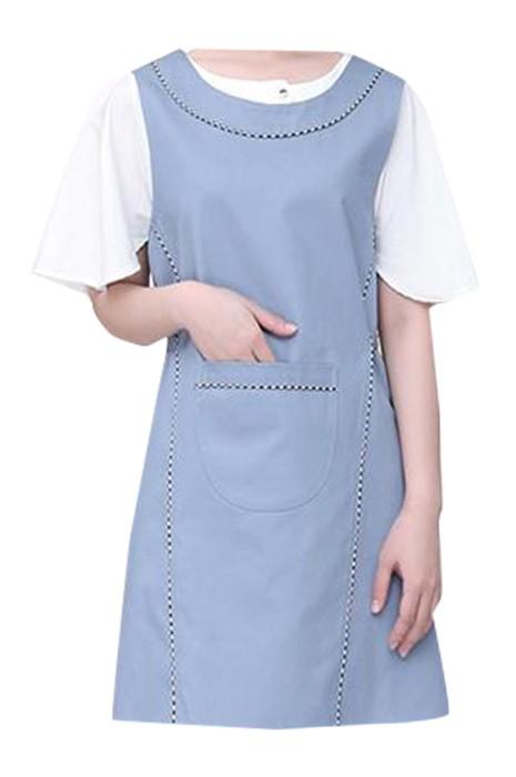 SKAP067 製造韓式時尚圍裙 設計背心式圍裙 超市圍裙 母嬰店 美容師圍裙 美甲師圍裙 圍裙供應商