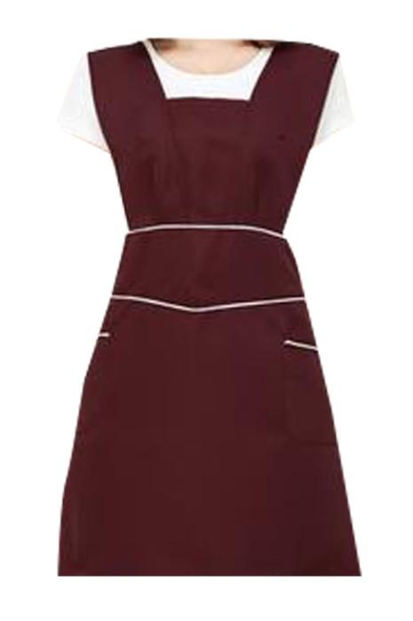 SKAP068 訂製淨色背心式圍裙  製造美容師圍裙 美甲 化妝師 母嬰店圍裙 可調節肩帶 圍裙中心