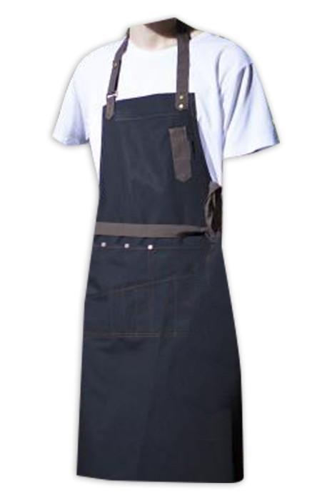 SKAP069 大量訂製咖啡店圍裙   時尚設計帆布掛脖圍裙 廚房圍裙 文青圍裙  圍裙中心  烹飪 烹煮