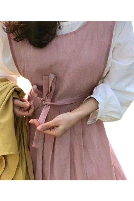 SKAP070 製造棉麻復古文藝圍裙 設計花藝師圍裙 簡約 百搭 圍裙 文青圍裙  圍裙生產商