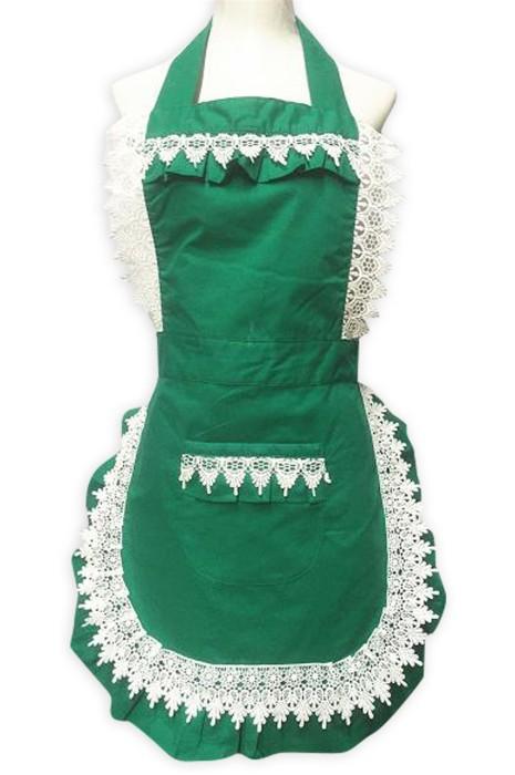SKAP079  大量訂製法式喱仕花邊圍裙   供應cafe 奶茶店 花店 法式圍裙 圍裙供應商