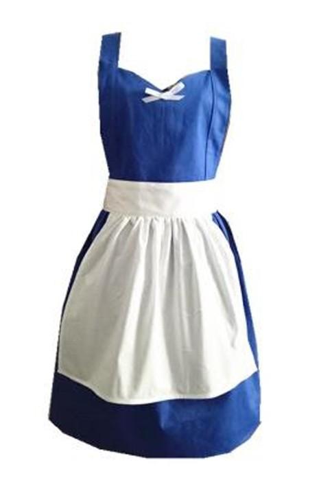SKAP096  訂製法式女僕英式維多利亞式鄉村風情圍裙  時尚設計撞色叉肩帶圍裙  圍裙供應商