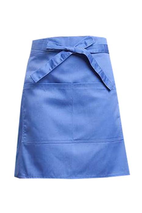 SKAP099  製造服務員半身圍裙   訂製花店美甲咖啡店廚房防油防水前綁帶半身圍裙  半身圍裙專門店