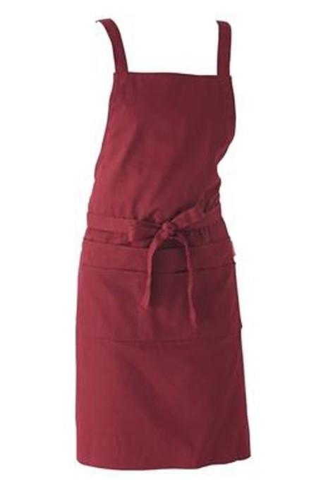 SKAP102   大量訂製花藝師背帶圍裙   設計可調節高低圍裙 奶茶店咖啡店圍裙  圍裙專門店
