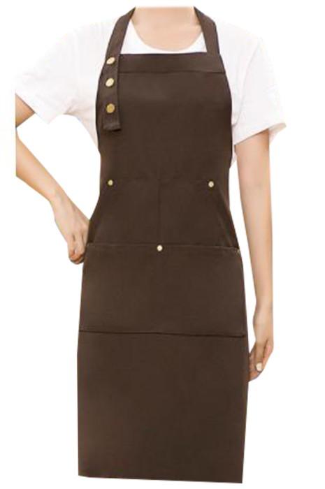 SKAP103  網上下單訂製帆布掛頸圍裙   訂製防水防油超市餐廳廚房家用後綁帶圍裙 掛頸圍裙中心