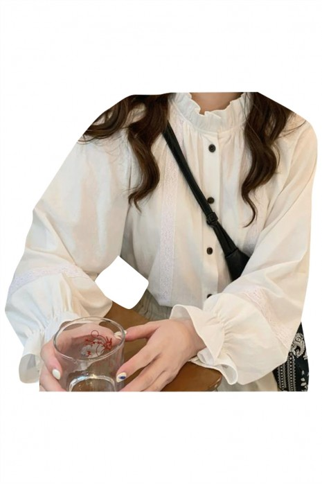SKR029  訂製燈籠長袖恤衫 設計女裝恤衫 恤衫中心