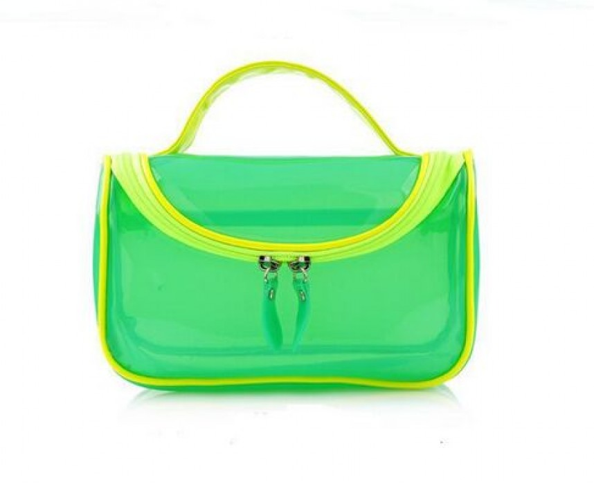 PVCB006 定做pvc化妝袋  設計精品手提pvc袋 供應創意半透明pvc袋  手提包 拉鏈袋專營