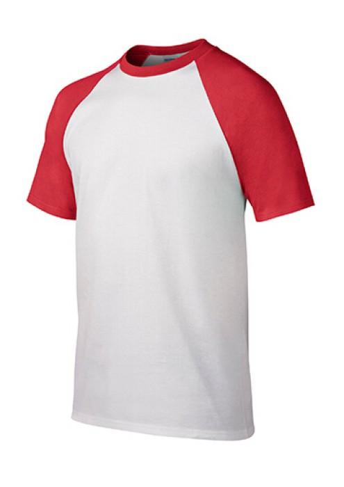 Gildan 白色/紅色FC030短袖男装T恤 76500白色顯瘦彈力T恤 透氣T恤 T恤供應商 T恤價格