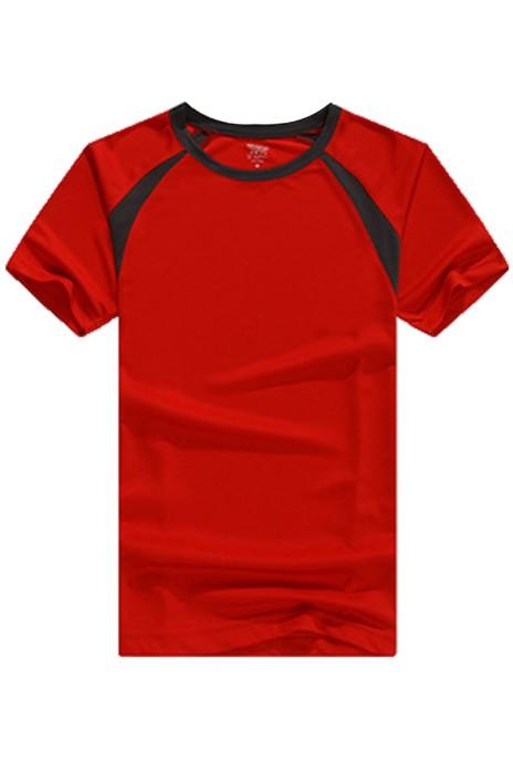 SKT010 運動速乾網眼布牛角袖T恤