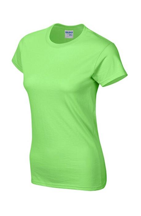 Gildan 淺綠色 012 短袖女圓領T恤 76000L T恤訂製 女裝T恤批發 T恤價格