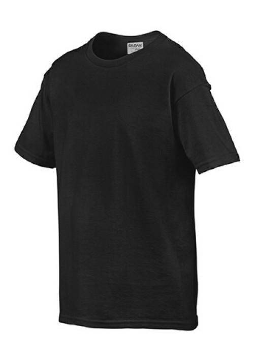 Gildan 黑色 036  短袖兒童圓領T恤 76000B 童裝T恤印字 活動T恤訂製 速印T恤 T恤價格