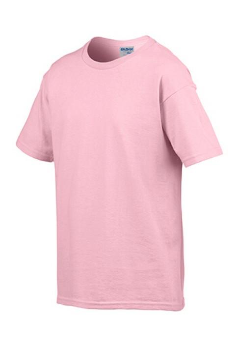 Gildan 淺粉色 020 短袖兒童圓領T恤 76000B 純色圓領童裝T恤 T恤訂製 香港訂tee T恤價格