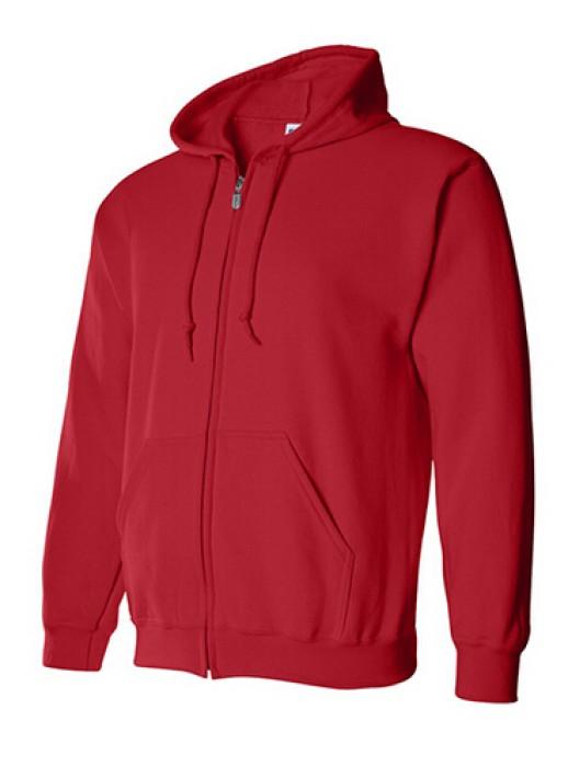 Gildan 紅色 040拉鏈衛衣 88600  純色拉鏈外套印字 速印拉鏈外套 拉鏈外套批發 衛衣價格