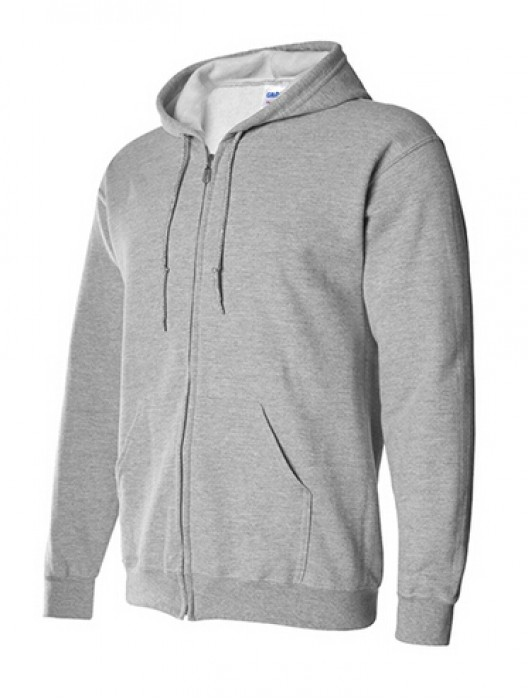 Gildan 灰色 095 拉鏈衛衣 88600 拉鏈外套訂製 純色拉鏈外套印字 速印拉鏈外套 衛衣價格