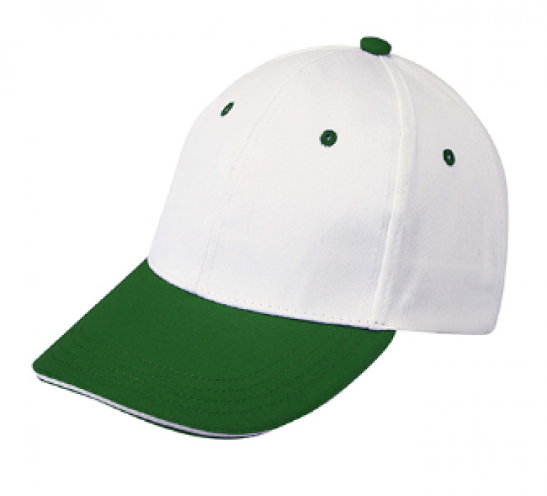 1LE03 正綠色064拼色棒球帽   設計訂製棒球帽  棒球帽中心 帽價格 棒球帽價格