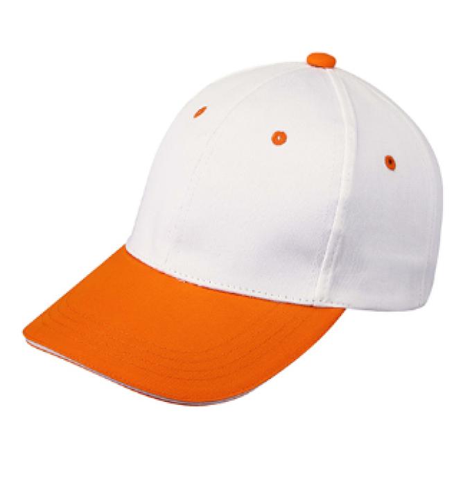 1LE03 橙黃色047拼色棒球帽   供應訂購棒球帽  棒球帽中心 帽價格 棒球帽價格