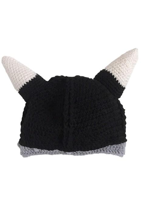 SKBC014  訂購純手工搞怪派對帽子   維京帽   海盜牛角帽   秋冬針織派對帽   毛線帽子  可愛