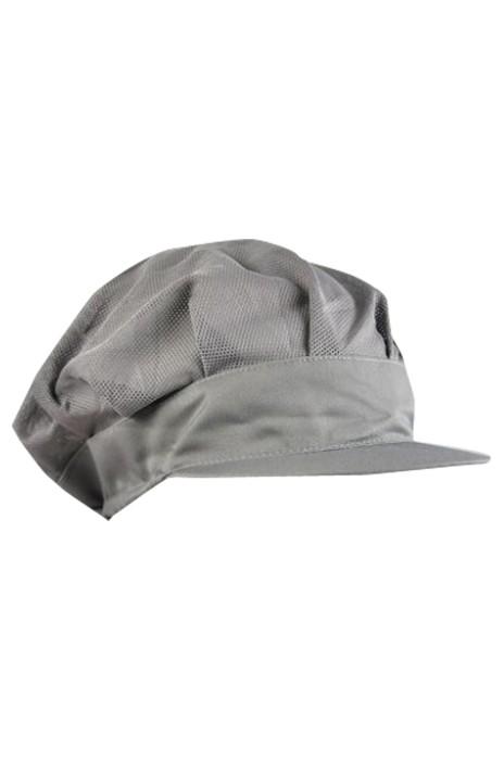 CHFH-011 訂做廚師工作網帽 鴨舌帽 車間防塵帽 服務員帽