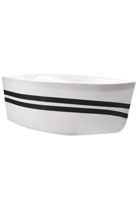 SKCH018   大量訂製船型廚師帽   設計食堂 廚房 防油煙可洗船型帽  船型帽專門店