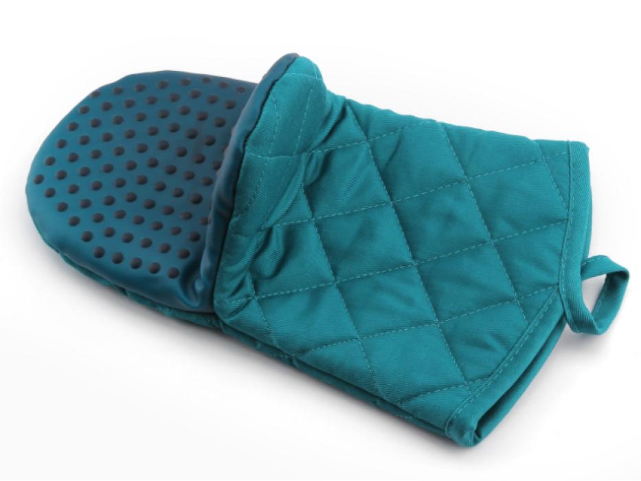 YD150617  藍色隔熱手套   度身訂製隔熱手套  隔熱墊 隔熱手套專門店  滌棉65%硅膠35%  115G  隔熱手套價格