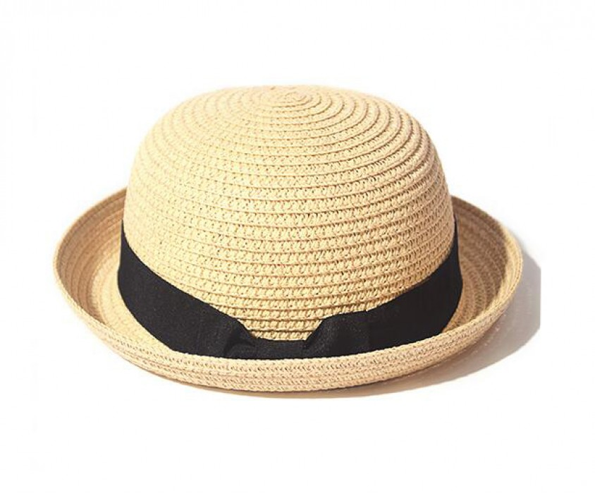 SKB004 訂做卷邊草帽款式   自訂防曬草帽款式  沙灘帽   製作沙灘帽草帽款式    草帽製造商
