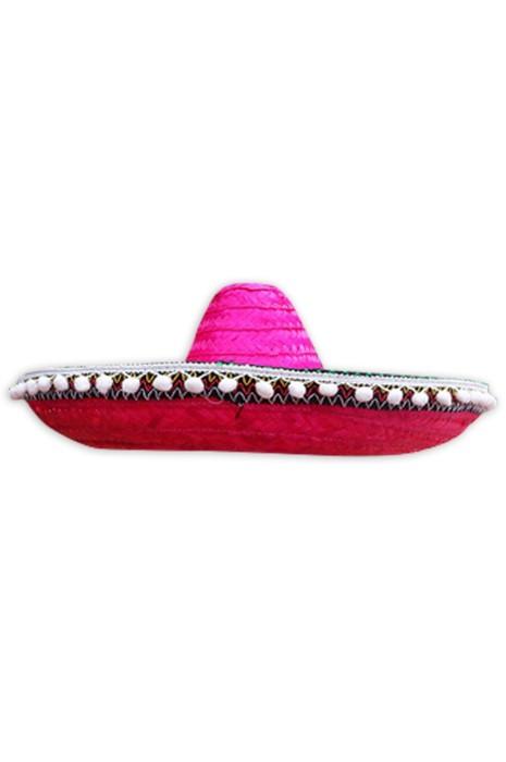 訂購萬聖節派對草帽  時尚設計彩色墨西哥民族風情表演帽 草帽供應商  SKB006