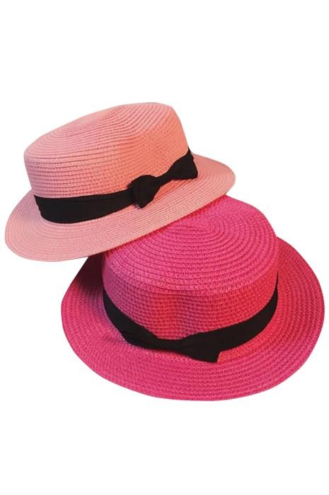 訂購復古英倫草帽  個人設計平頂禮帽遮陽防曬沙灘出遊帽  草帽供應商  SKB011