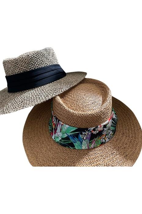 訂購沙灘草帽   時尚設計平頂度假防曬編織遮陽草帽  草帽供應商  SKB013
