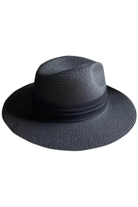 訂造摺疊草帽  自訂平沿寬檐禮帽巴拿馬沙灘度假帽  草帽生產商 SKB014