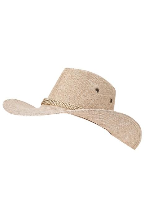 製造野營太陽帽   設計戶外海邊沙灘西部牛仔帽 草帽供應商  SKB016