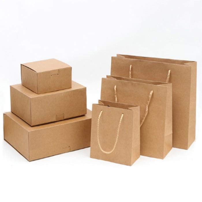 PC013 製作精美紙袋 牛皮紙包裝盒 時尚購物手提袋 牛皮紙包裝袋 環保袋製造商