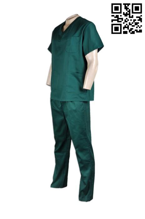 SKNU006  專業訂做醫療制服  訂購男士護士服 醫院制服中心  護士制服來樣訂做公司  舒特呢  護士服價格
