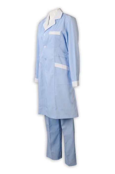 SKNU001 製造白大褂護士服 長袖護士褲 女醫生美容師院分體套裝 藥店工作服 冬  護士服價格
