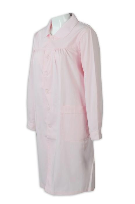SKNU002 訂購圓領醫生服  設計護士服大碼孕婦服 冬裝長袖孕婦 白大褂