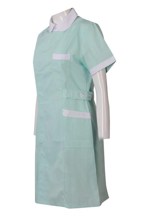 SKNU006  訂做公主領診所制服  訂購護士服  訂製醫院制服  設計診所制服款式 診所制服供應商HK  舒特呢  診所制服價格