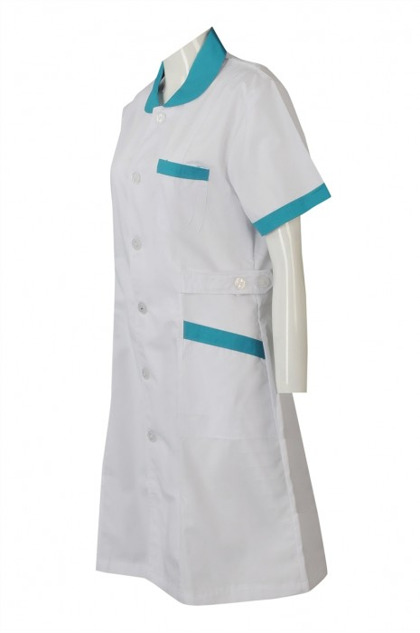 SKNU007 訂購白色診所制服 訂做公主領護士服 醫護人員制服中心 訂製醫院制服公司 訂護士服專門店HK  舒特呢  護士服價格