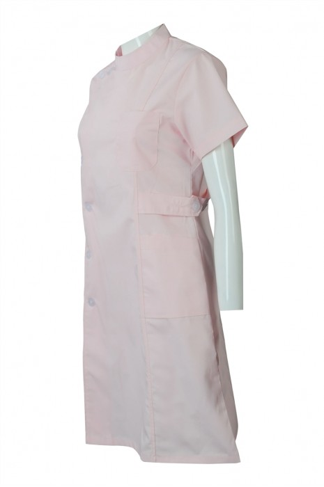 SKNU008 設計圓領短袖護士制服  網上下單夏裝護士服 護士服製造商