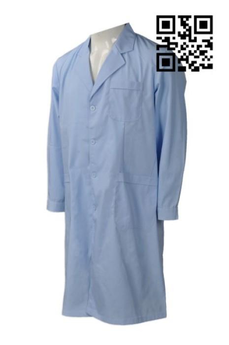 SKU015  訂購醫生袍長袖醫生服 供應修身實驗服 製作護士服藥店工作醫師服  醫生袍製造商