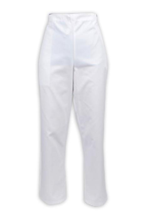 SKU017 大量訂做護士褲  淨色 設計半鬆緊褲頭  調節抽繩  護士褲供應商