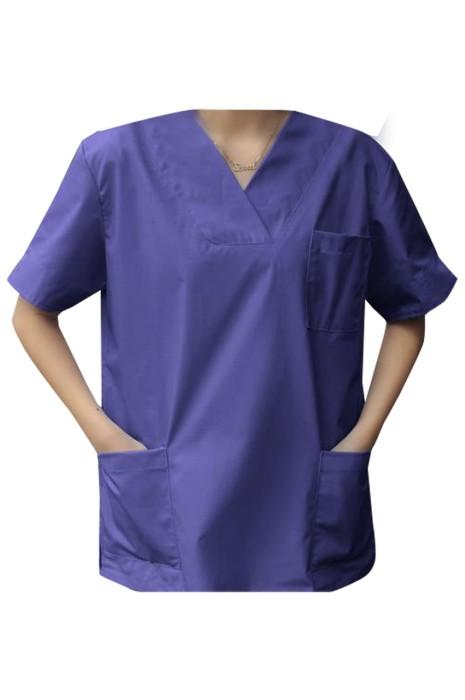 SKU018 製造短袖護士服 設計寵物 美容院工作服 護士服中心