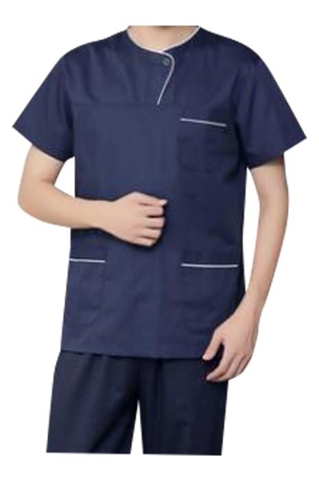 SKU020 大量訂製男護士服  設計長短袖護士服 牙科 醫生 診所 手術服  護士服中心