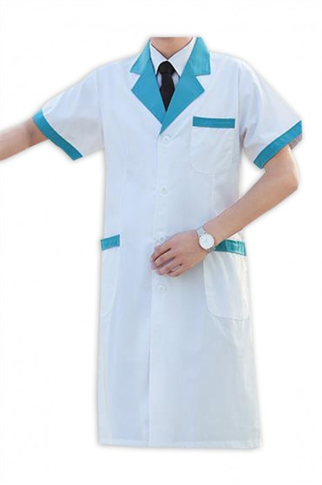 SKU023 製造男裝護士服服 診所 美容院 工作室 藥店 時尚設計撞色護士服 護士服供應商 polyester65% 棉35%