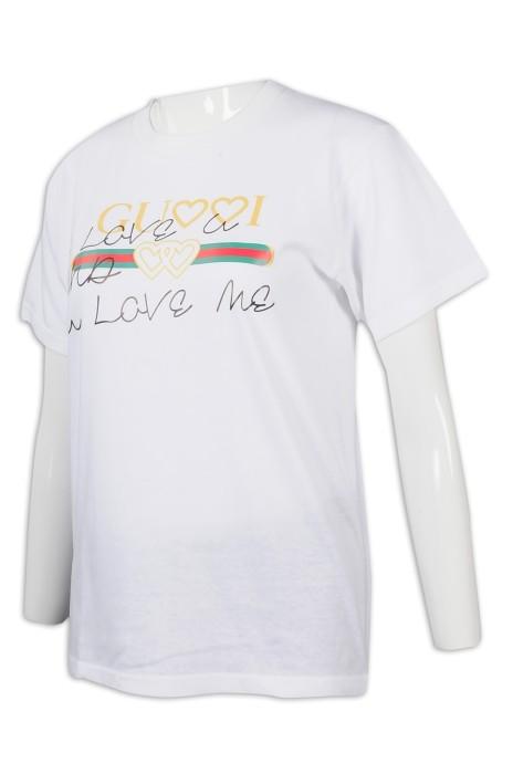 T943 設計短袖印花T恤 T恤製衣廠
