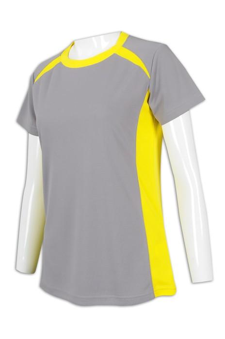 T944 訂購撞色女裝T恤 100%滌 香港施華洛世奇 T恤專門店