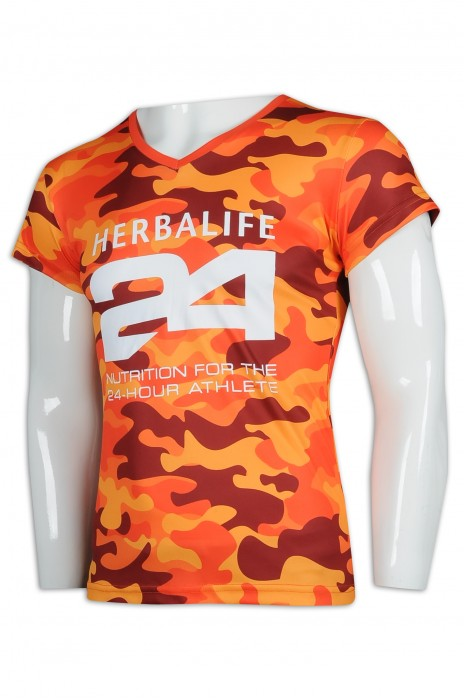 T946 訂製V領T恤 迷彩T恤 T恤生產商